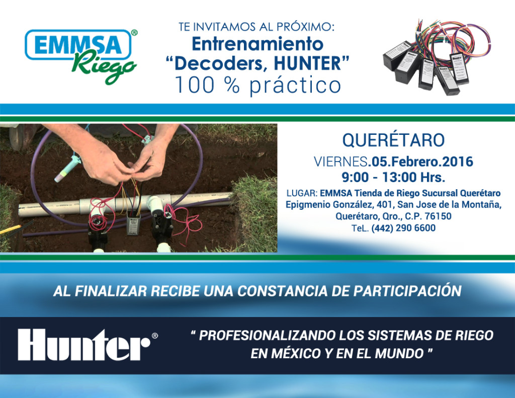 Invitacion Curso Decoders Hunter - QRO 05 Feb 2016